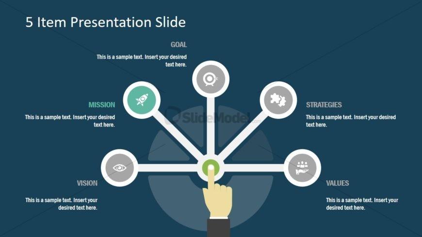 Infographic Segments of 5 Item PPT