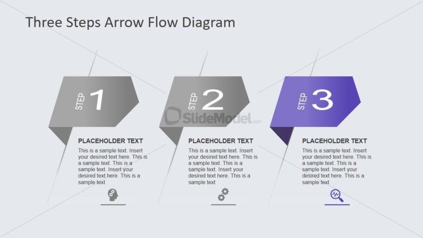 Presentation of 3 Steps Diagram