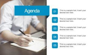 Agenda Slide Free Template