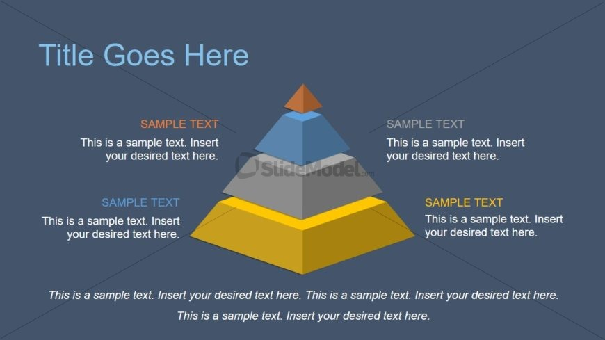 4 Level 3D Pyramid Diagram