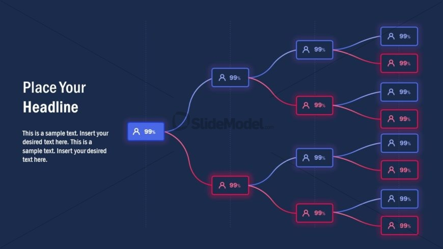 Glow Infographic Decision Tree