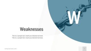 Free Business SWOT Analysis Weaknesses