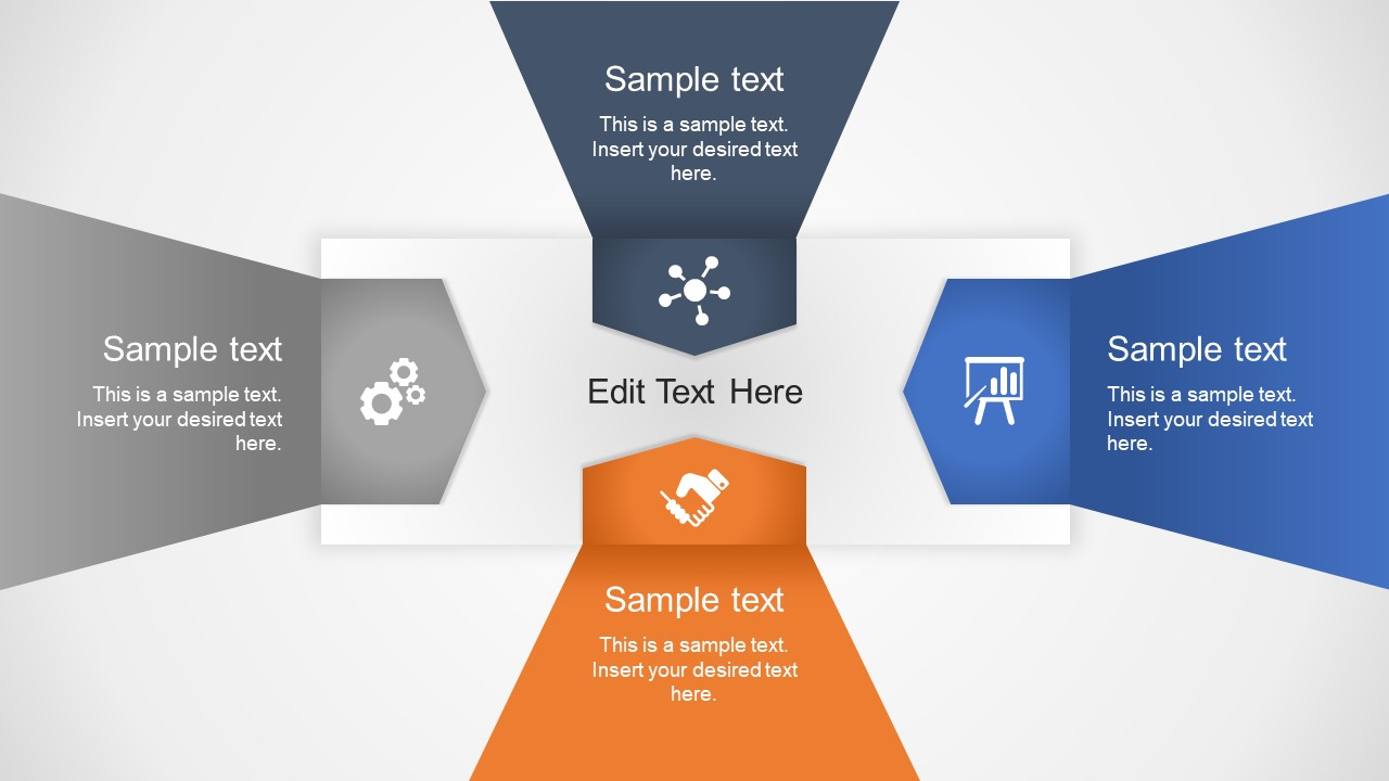 4 Steps PowerPoint Arrow Diagram