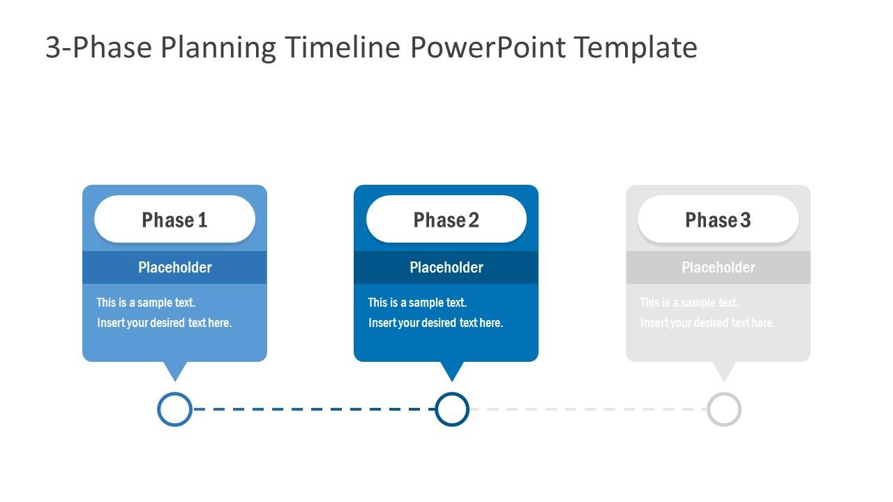 Free Slide of 3 Phase Timeline