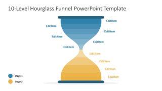 10 Level Hourglass Diagram Template