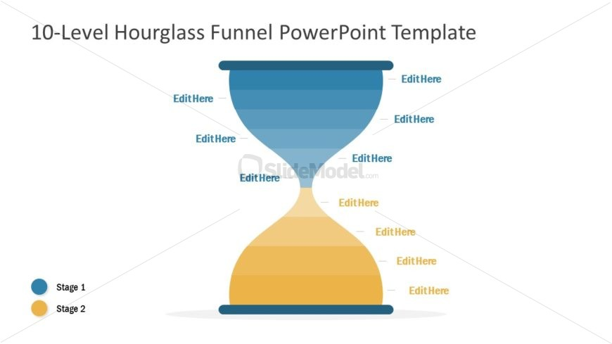 10 Level Hourglass Diagram Template