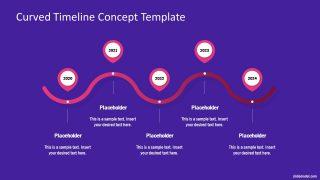 5 Steps Curved Timeline Design