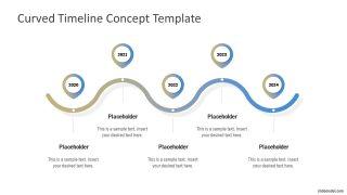 Curved Timeline Gradient Presentation