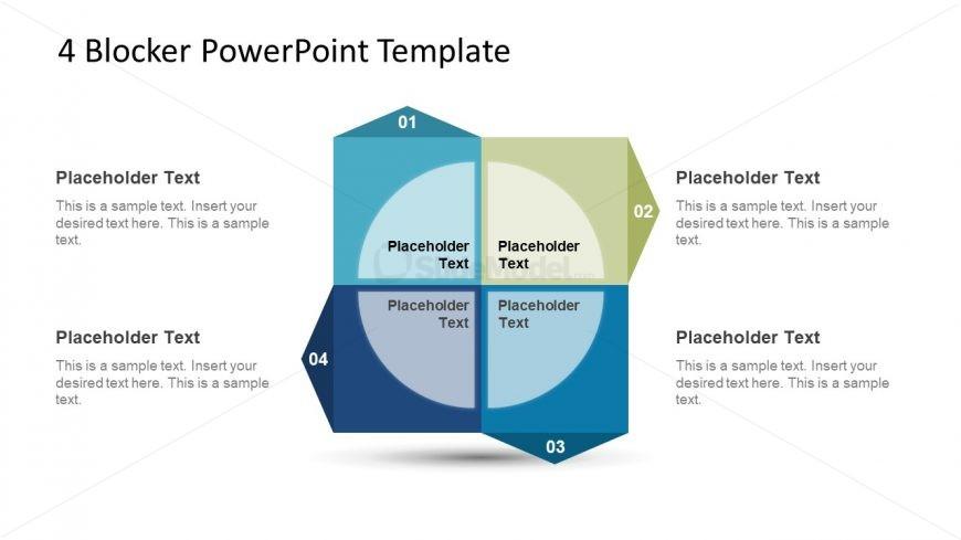 4 Steps Process Cycle Diagram