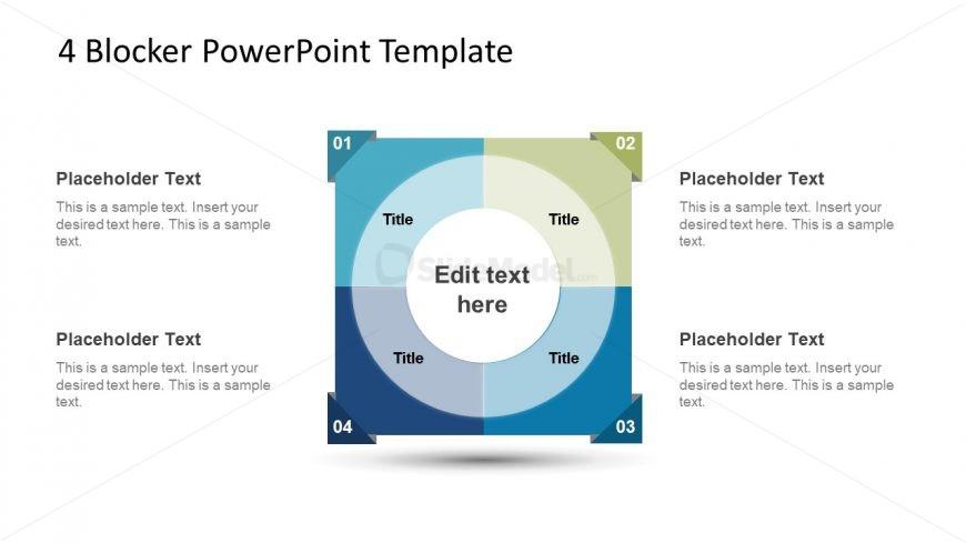 4 Steps Template Process Diagram