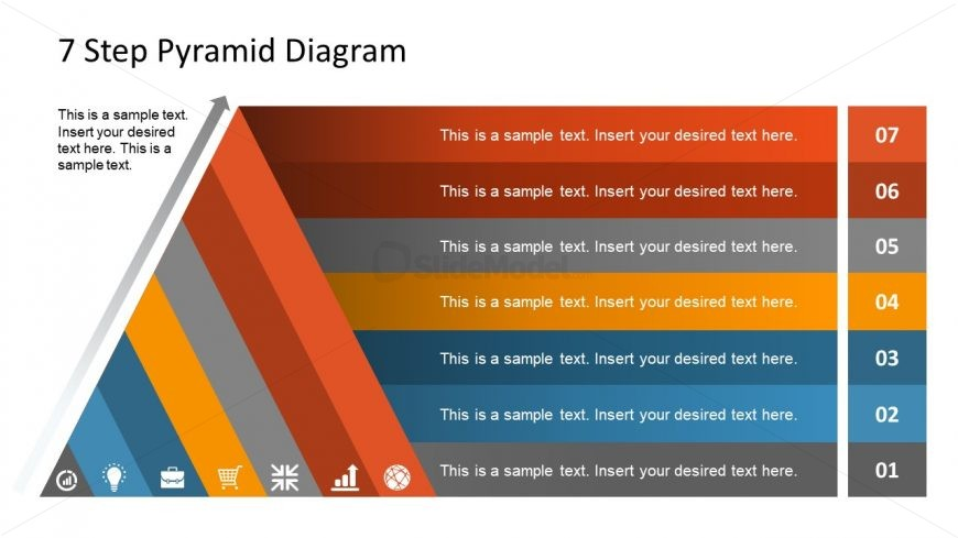 PowerPoint 7 Layer Diagonal Pyramid