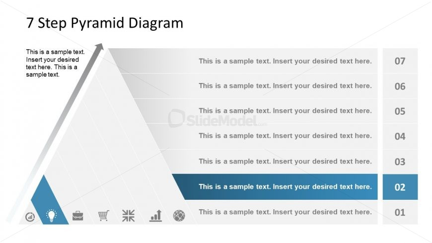 Level 2 Pyramid Diagram Template