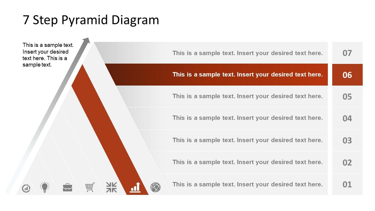 Level 6 Pyramid Diagram Template
