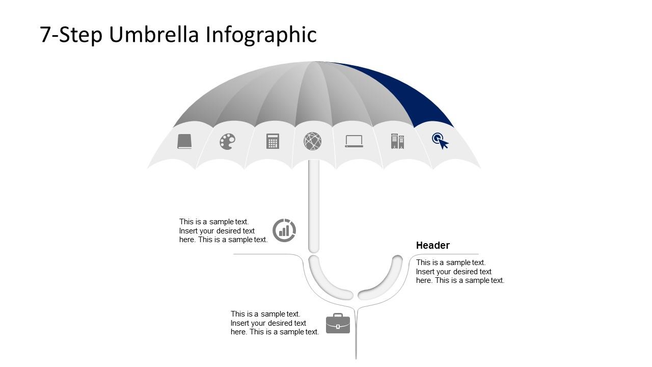 Editable Umbrella PowerPoint Design