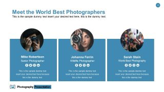 Meet The Team of Photography