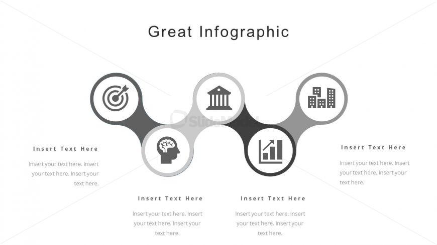 Corporate Portfolio Infographic Timeline PowerPoint