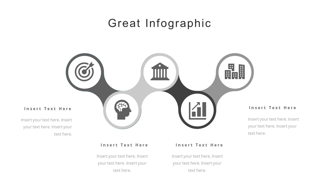 5 steps infographic diagram corporate template