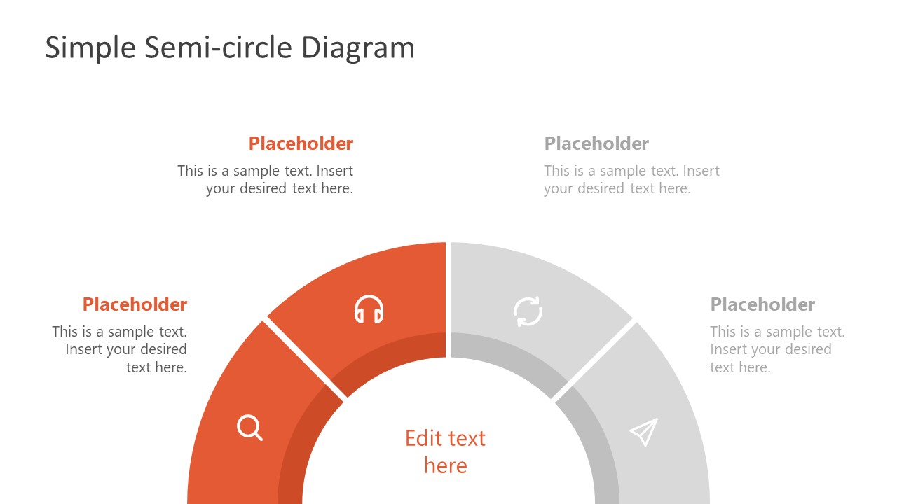 Gauge Semicircle PowerPoint Diagram