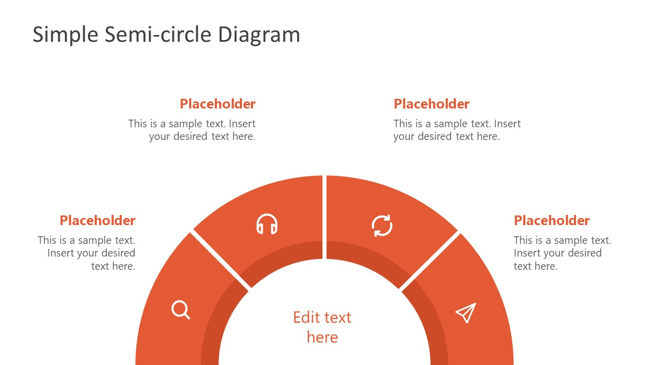 Semi-Circle PowerPoint Diagram Design