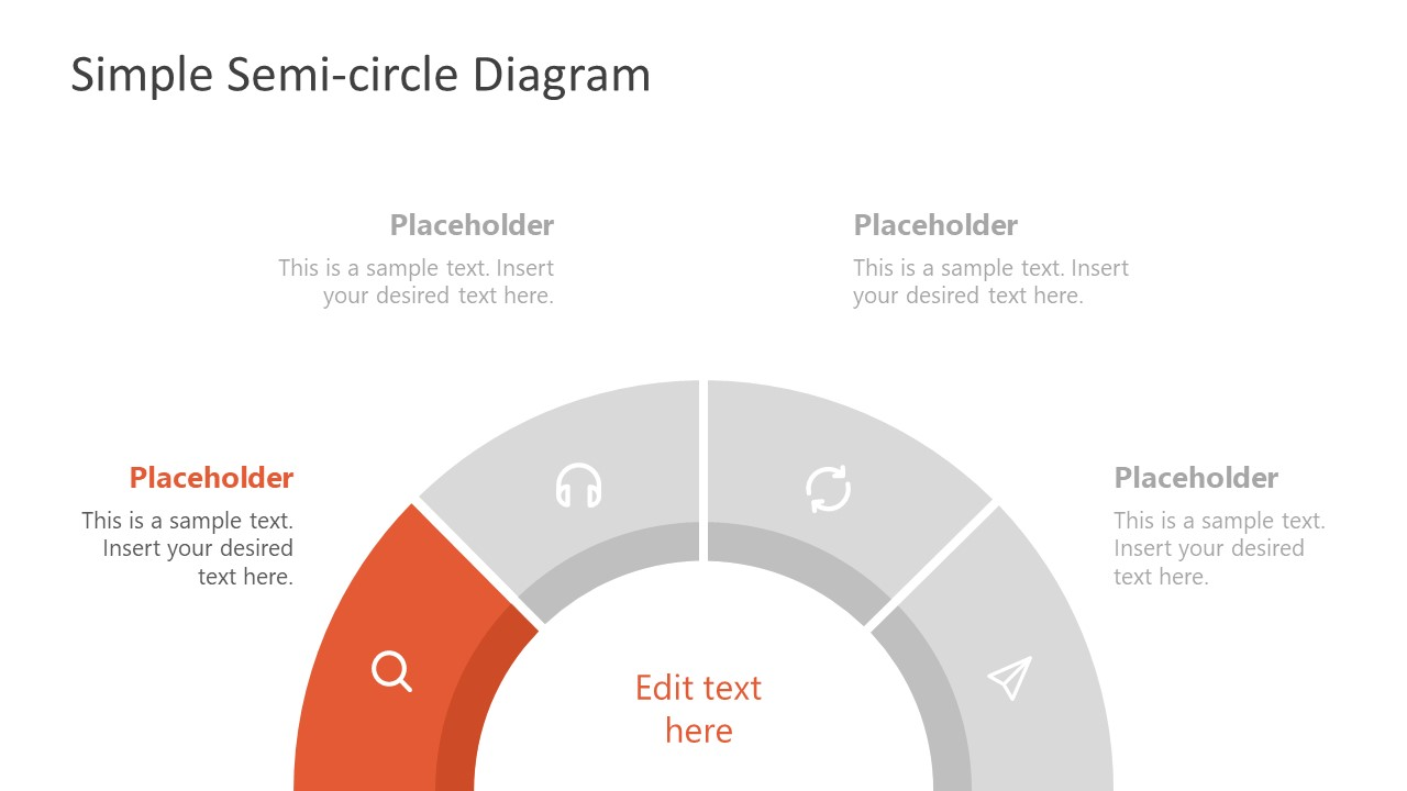 Editable PowerPoint Semi-Circle Diagram