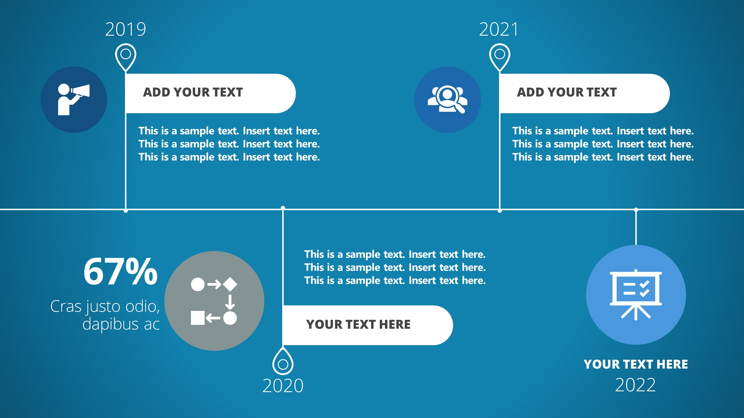 Template of Business Corporate Timeline