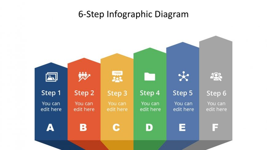 Free Diagram of 6 Steps Infographics