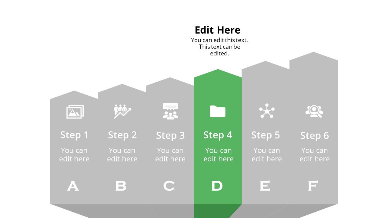 Arrow Shape Diagram Template Step 4