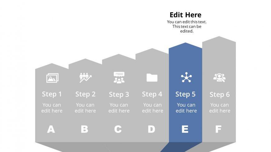 Arrow Shape Diagram Template Step 5