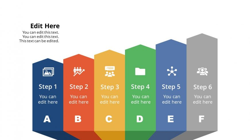 PowerPoint Upward Arrow 3D Diagram
