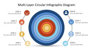 PPT Multi-Level Infographic Concentric Circles