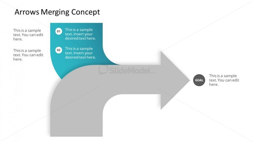 Convergence Arrows PowerPoint Template