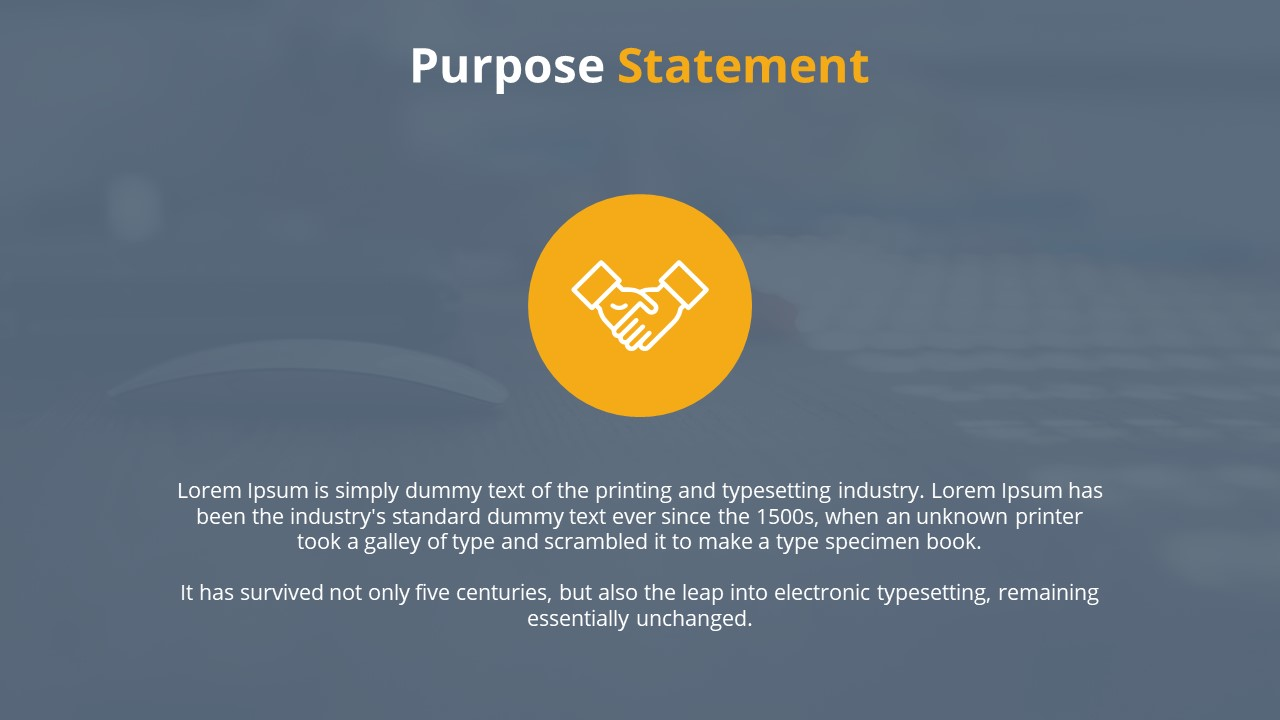 Cover SlideThesis Statement Template
