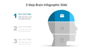 3 Steps Slide Diagram Human Head
