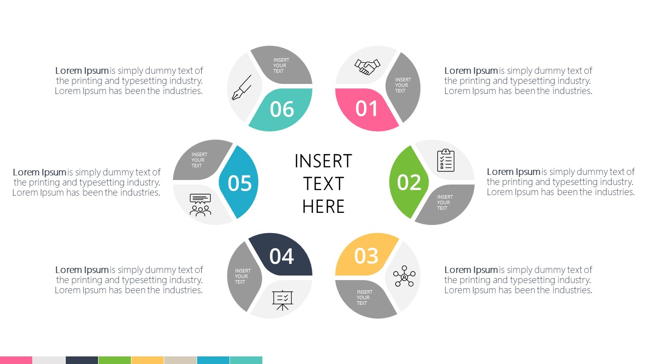 Presentation of 6 Item Infographic Diagram