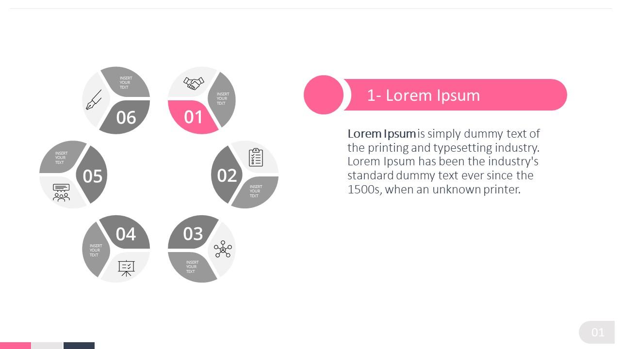 PPT Hexagon 6 Steps Diagram