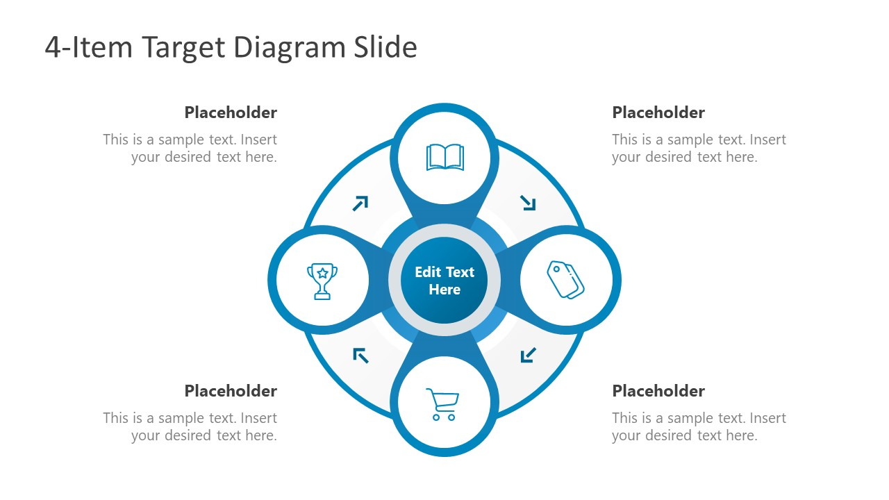 Infographic PowerPoint 4 Targets