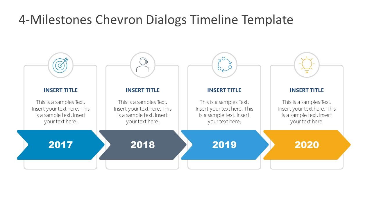 Free PowerPoint Chevron Milestones