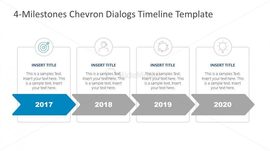 PowerPoint Free Template Chevron Timeline