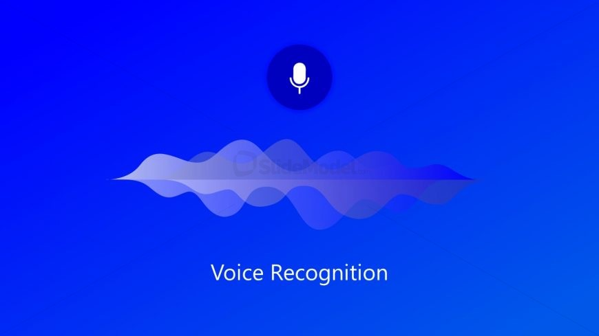 PPT Voice Recognition Sound Waves Template