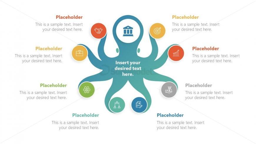 8 Steps Octopus Mindmap Template