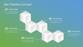 Presentation of 3D Cube Box Timeline
