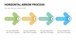 Presentation of 4 Steps Arrow Diagram
