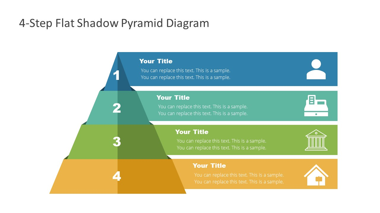 Slide of Infographic Pyramid Diagram