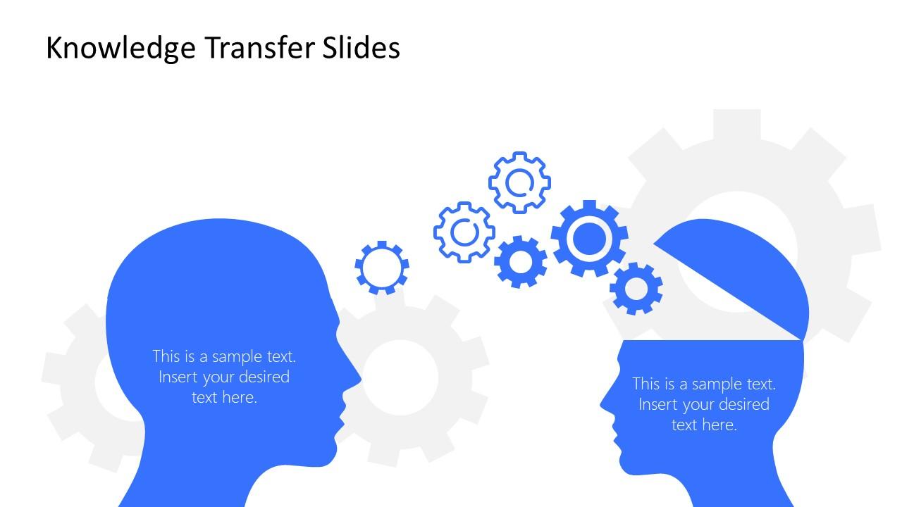 Slide of Knowledge Transfer Metaphors Template
