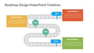 Presentation of Curved Roadmap PowerPoint
