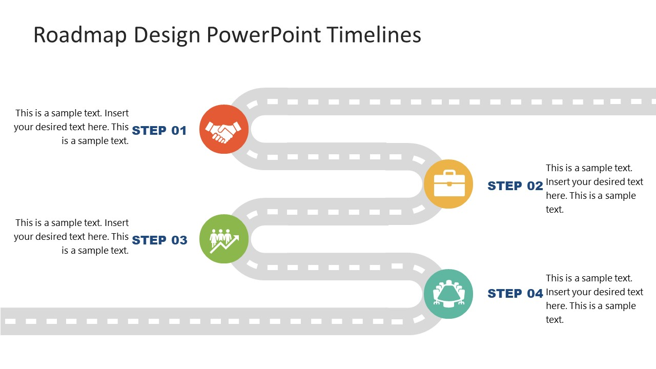 PPT Roadmap PowerPoint Diagram Design