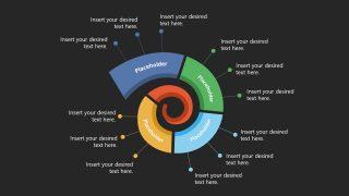 4 Steps Spiral Timeline Template