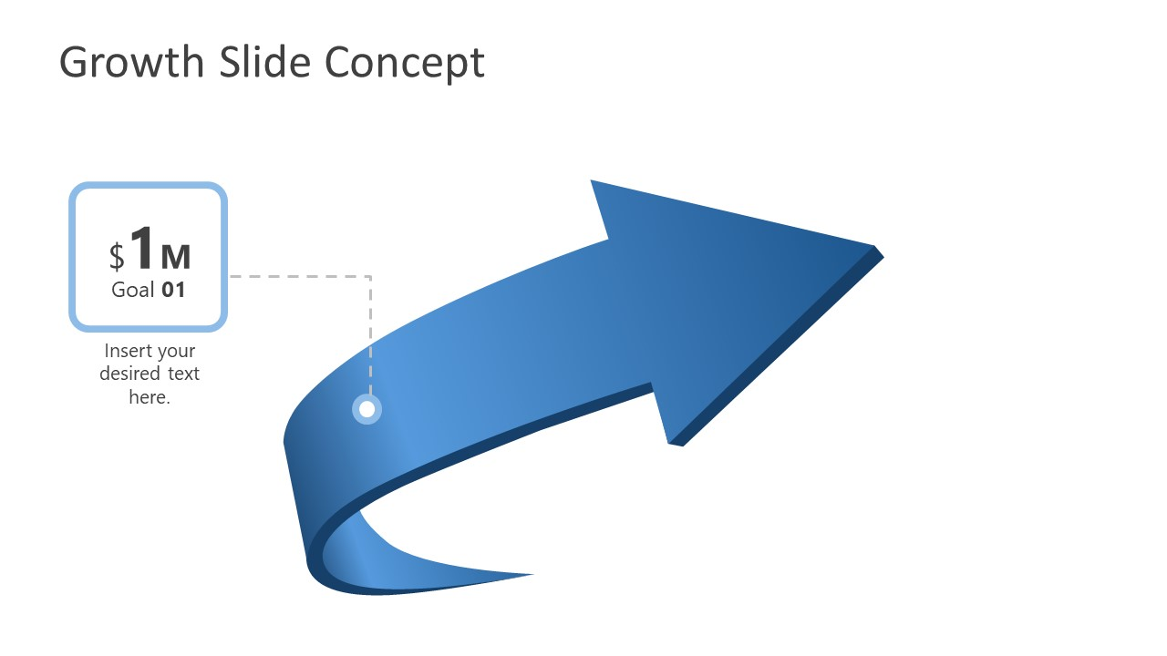 PowerPoint 4 Steps Arrow Diagram Stage 1