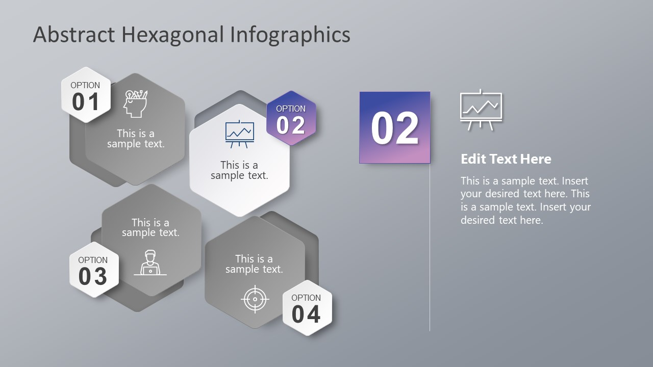 PowerPoint Diagram of Infographics and Hexagons