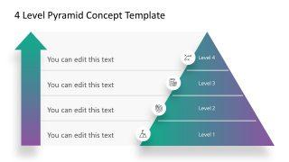 4 Level Pyramid Diagram Template